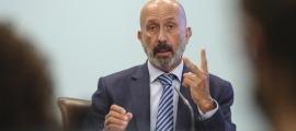 El ministre de Salut, Joan Martínez Benazet, en la roda de premsa d'actualització de les dades sanitàries.