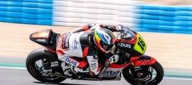Xavi Cardelús ahir al circuit de Jerez.