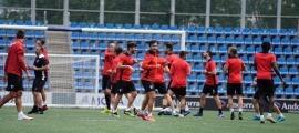 L'Inter Club Escaldes, dirigit per Albert Lopo, es va entrenar ahir a l'Estadi Nacional. Foto: Interescaldes.com