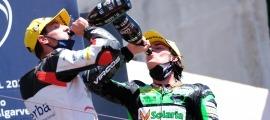 Xavi Cardelús, al podi de Portimao del Moto2 European Championship. Foto: Promoracing