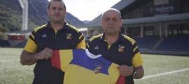 Paul Alieu i Thierry Barbière, nous selecciona dors dels 'isards', en substitució de Josep Magallón, 'Maga' i Peter Lucas. Foto: Facundo Santana