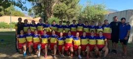 La selecció de rugbi de 15 es va estrenar dissabte amb un amistós a Ajaccio. Foto: FAR