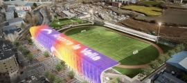 El 'nou' Estadi Comunal-Joan Samarra, finalment serà una remodelació de mínims. Foto: Comú d'Andorra la Vella / Tony Lara
