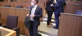 El cap de Govern, Xavier Espot, arribant ahir a la cambra parlamentària per la sessió de control a l'executiu.