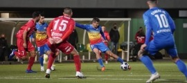 El capità i migcampista de l'FC Andorra, Rubén Bover, és dels jugadors que ha decidit fer oficial que ha donat positiu per coronavirus. Foto: FC Andorra