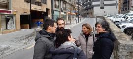 Membres de la candidatura del PS a Escaldes, ahir.