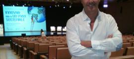 Pablo Pascale, abans de començar la seva conferència, ahir.