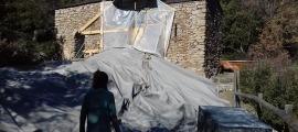 El campanar de Sant Vicenç es va esfondrar el mes de desembre passat.