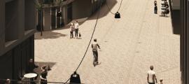 Imatge del carrer Callaueta un cop convertir en zona per a vianants.