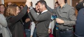 Gili i López després de guanyar les eleccions a Escaldes-Engordany.