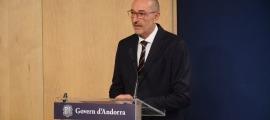 El director del departament de Mobilitat, Jaume Bonell, durant la presentació.