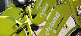 Bicicletes del servei Cicland.