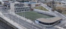 Vista de les instal·lacions esportives del Prat del Roure.