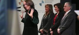 Un moment de la recepció oferta als ministres i representants iberoamericans.