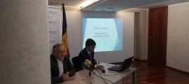 El president de la CASS, Albert Font, i el president de la comissió gestora del FRJ, Jordi Cinca.