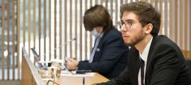 El conseller general socialdemòcrata Roger Padreny en una comissió legislativa.