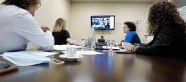 Un moment de la reunió d'ahir.