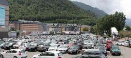L'aparcament del Parc Central.