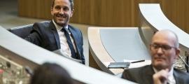 El conseller del PS, Pere López (a l'esquerra), en una imatge al Consell General.