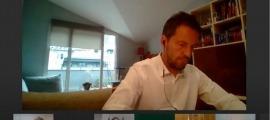 Pere López en la reunió de la Cosac d'aquest matí.