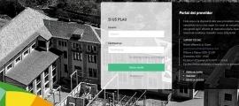 El nou portal per al registre dels proveïdors.