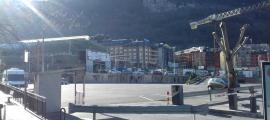 L'aparcament del Prat Gran d'Escaldes estaria quasi ple un dissabte normal.