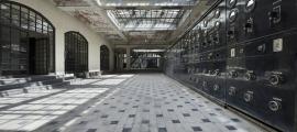 La sala de màquines de la primera planta, on hi ha els emissors i es va detectar amiant.
