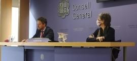 López i Vela en la compareixença d'aquest dijous.