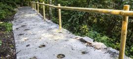 La millora al rec de l'Obac que s'ha fet aquest estiu.