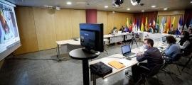 Un moment de la celebració de la quarta reunió de Coordinadors nacionals i Responsables de cooperació.
