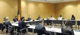 Un moment de la reunió que van mantenir la setmana passada els representants del Govern i les estacions d'esquí.