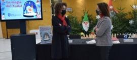 La cap de Cultura, Laura Rogé, i la cònsol menor de Sant Julià de Lòria, Mireia Codina, han presentat les activitats de Nadal de la parròquia.