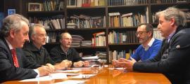 Un moment de la reunió entre els representants de Progressistes-SDP i l'Acoda.