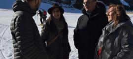 Els candidats van visitar l'estació d'esquí de Soldeu