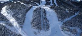 Les pistes d'esquí de Soldeu.