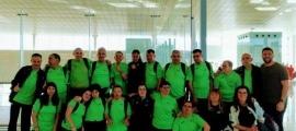 La delegació dels Special Olympics quan van marxar cap a Abu Dhabi.