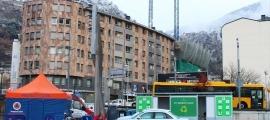 Un 'stop lab' mòbil a Andorra la Vella.