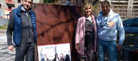 Olga Martínez i altres candidats de la llista de Terceravia a Encamp.