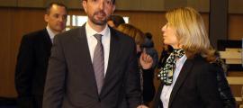 El ministre d'Ordenament Territorial, Jordi Torres, durant la inauguració del Saló del videojoc.