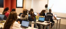 Una classse de la Universitat d'Andorra.