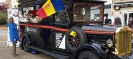 Productes de Km, o millor, Km 100, promocionats amb vehicles 'vintage'