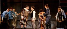 Edmond recrea l'estrena de 'Cyrano de Bergrac', el desembre del 1897 a París.