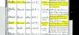 Llista de desertors inscrits a la brigada de les Cabannes, amb data del 16 de gener del 1919.