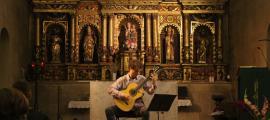 El guitarrista David Font, en l'edició passada de l'ONCA Basic a Sant Corneli.