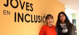 Les responsables del servei Joves en inclusió, Eva Flotats i Judith Sansa.
