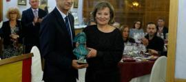 Núria Gras, guanyadora del Fiter i Rossell de novel·la a l'última edició de la Nit Literària.