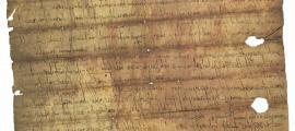 Compravenda del 815, procedent de Codinet i el document més antic de Catalunya.
