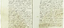 """Les dues últimes pàgines del procés d'Antònia Martina que es conserven al fons del Tribunal de Corts i en què se la condemna a la pena del desterrament perpetu """"sots pena de sent assots"""": el 1554 va tornar, la van enxampar i sembla que va ser efectivament assotada."""