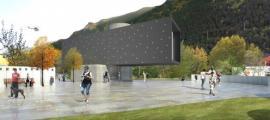 El projecte de l'arquitecte Jordi Batlle per a l'Espai Columba, a la rotonda d'Enclar, que encabirà els frescos de Santa Coloma a partir del gener.