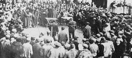 Lectura de la sentència de Bacó, el 28 de març del 1896: la pena de mort li va ser finalment commutada per cadena perpètua.
